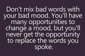 bad words and bad moods